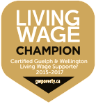 Certified Guelph & Wellington Living Wage Champion Poverty Task Force