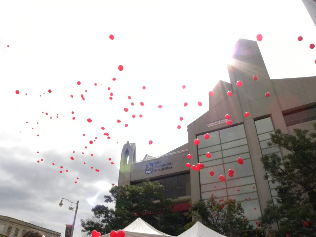 Balloon release at United Way Campaign Kickoff 2016
