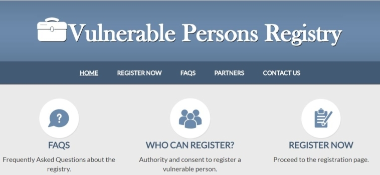 ANNOUNCING the launch of a Vulnerable Persons Registry in Guelph on January 2, 2017