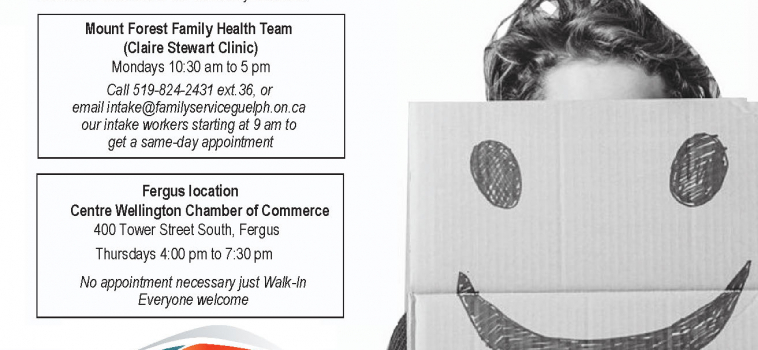 Changes to Fergus Same Day Quick Access Counselling Clinic
